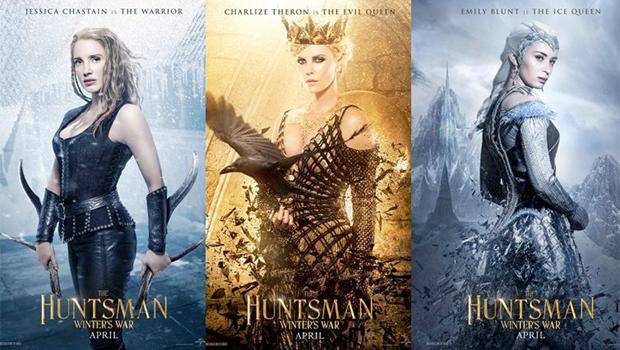 『スノーホワイト』続編、正式タイトルが『The Huntsman:Winter's War』に。メインキャラクターのポスター公開