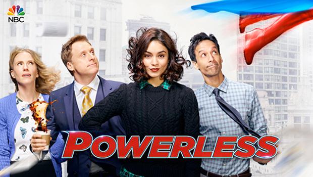 バネッサ・ハジェンズ主演、スーパーヒーローの世界の普通の人々を描く「Powerless」公式写真