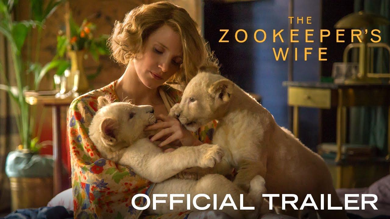 ジェスカ・チャンスティン主演『The Zookeeper's Wife(原作邦題:ユダヤ人を救った動物園―ヤンとアントニーナの物語)』予告編