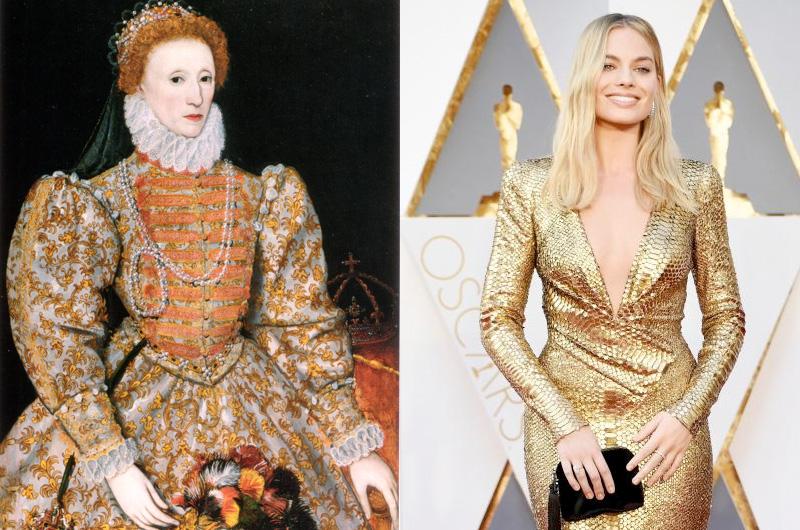 『Mary, Queen of Scots』マーゴット・ロビーのクイーン・エリザベス1世姿