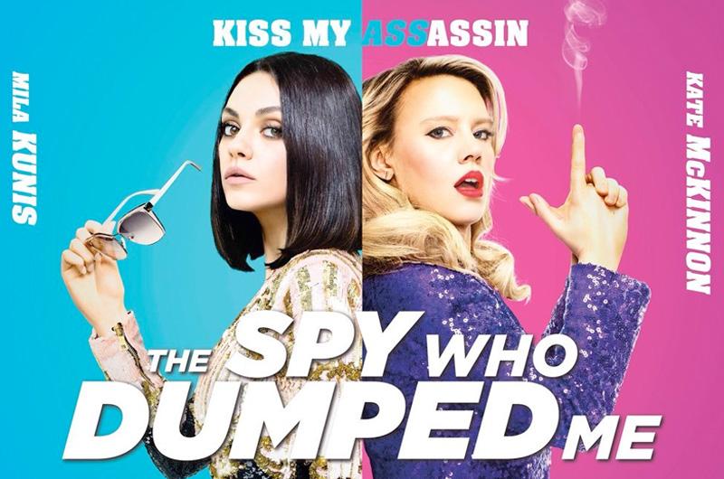 ミラ・クニス&ケイト・マッキノン共演スパイ・コメディ『The Spy Who Dumped Me』ポスター最終版は007歴代ポスターのパロディ?