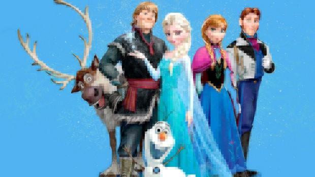 『アナと雪の女王』を昔ながらのRPGゲーム風に再現した映像!