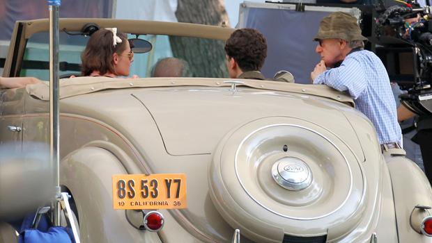 クリステン・スチュワート出演、ウディ・アレンの新作の撮影風景