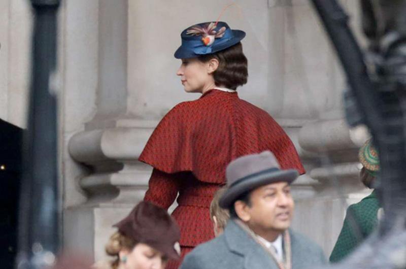 『メリー・ポピンズ』続編『Mary Poppins Returns』撮影風景、エミリー・ブラントの姿も