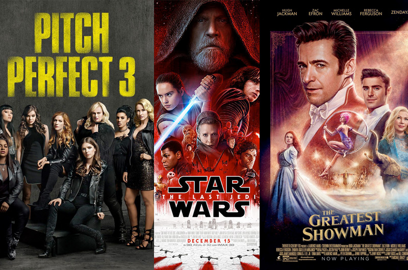 『ピッチ・パーフェクト 3』『グレイテスト・ショーマン』全米公開開始!全米週末興行成績は?!